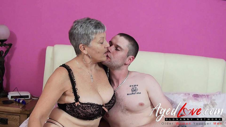 Old lady sex with young man
