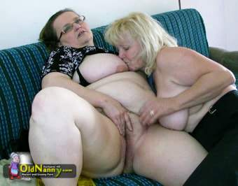 Older BBW satisfies fat lady with glasses