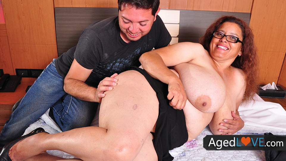 Touching young tits 3